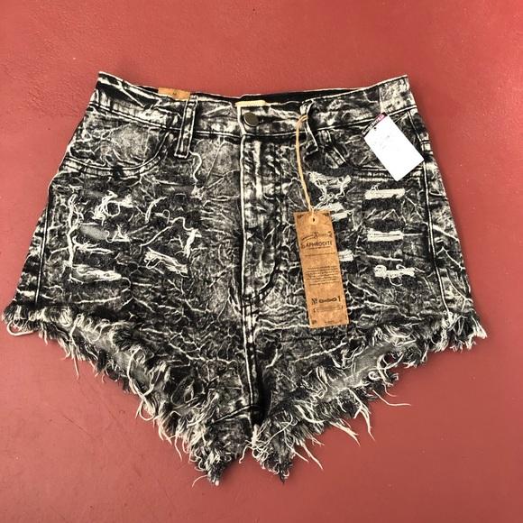3130202a91 Aphrodite Shorts | Nwt Black Distressed Size Medium | Poshmark